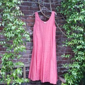 Pink Eileen Fisher Linen Dress - adjustable ties